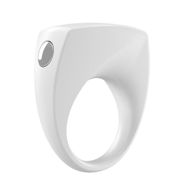 Эрекционное кольцо Ovo B6 с вибрацией – белый