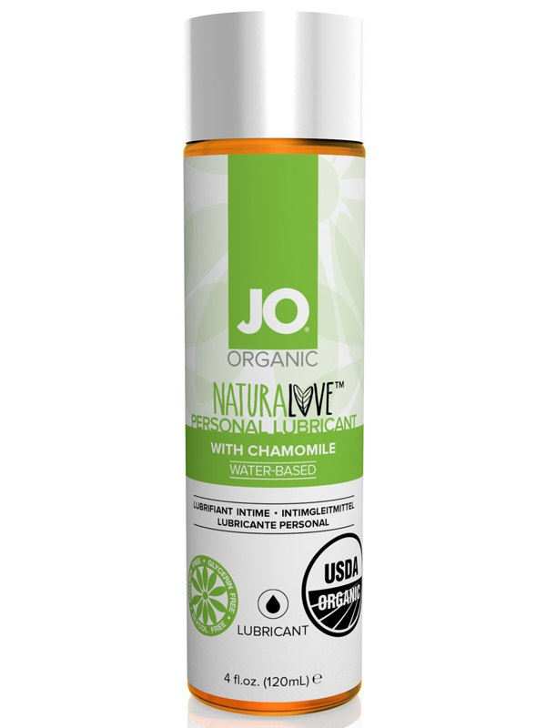 Натуральный лубрикант на водной основе JO Naturelove USDA Organic с экстрактом ромашки – 120 мл