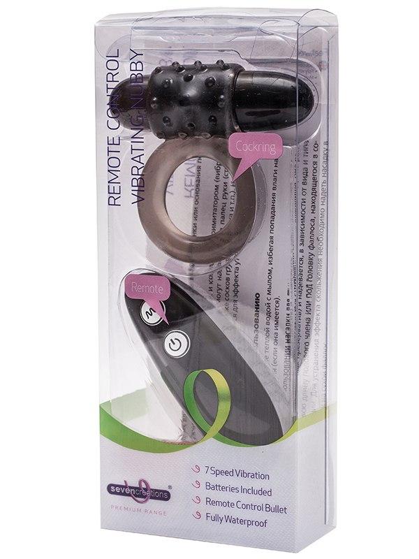 Эрекционное кольцо Premium Range Knuckler c вибрацией – черное