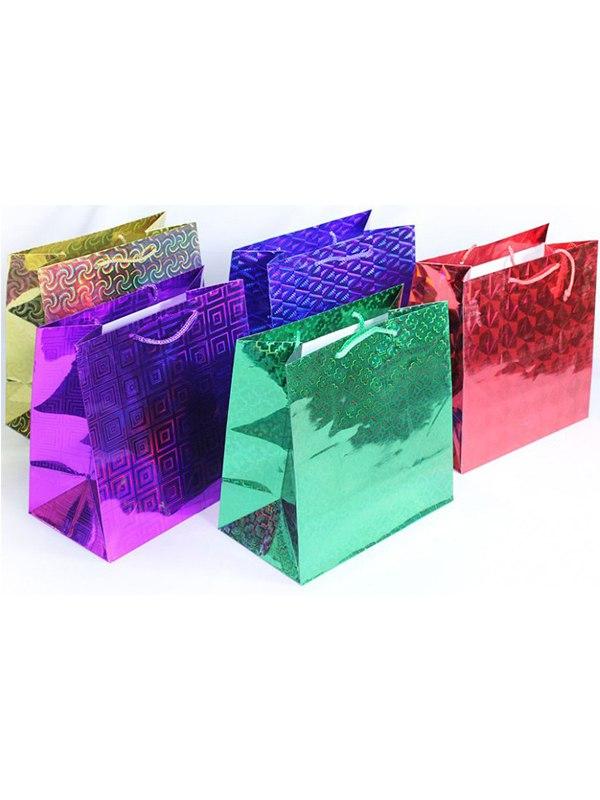 Голографический подарочный пакет (264*327*136)