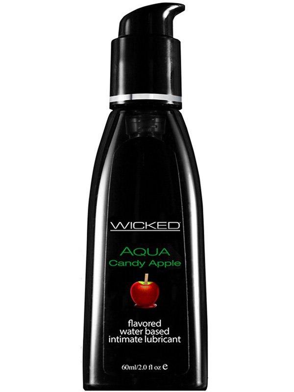 Лубрикант Wicked Aqua Candy Apple со вкусом сахарного яблока – 60 мл