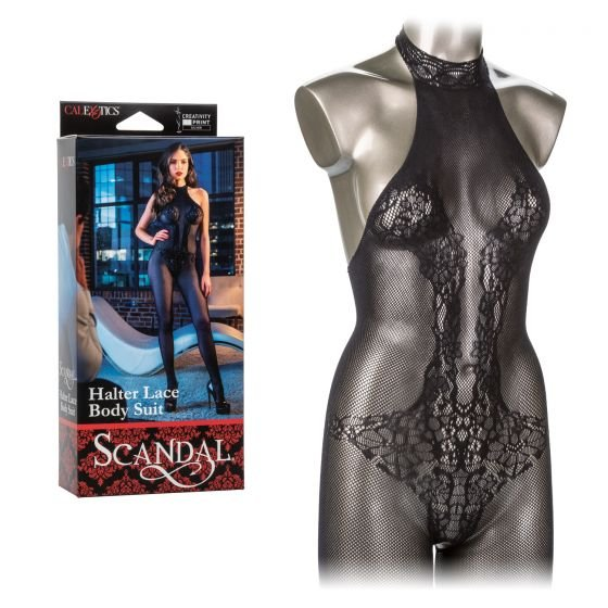Кэтсьюит SCANDAL HALTER LACE BODY SUIT