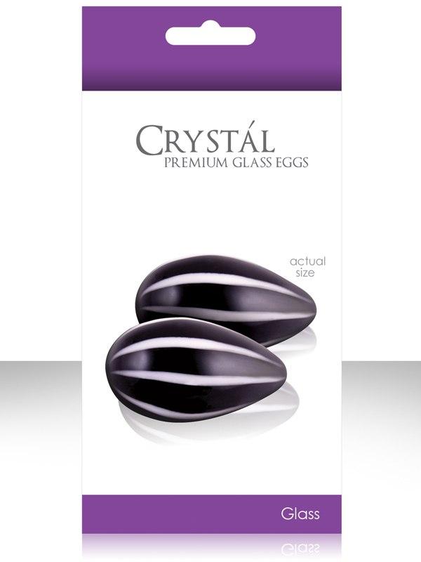 Вагинальные шарики из стекла Crystal Premium Glass - Black