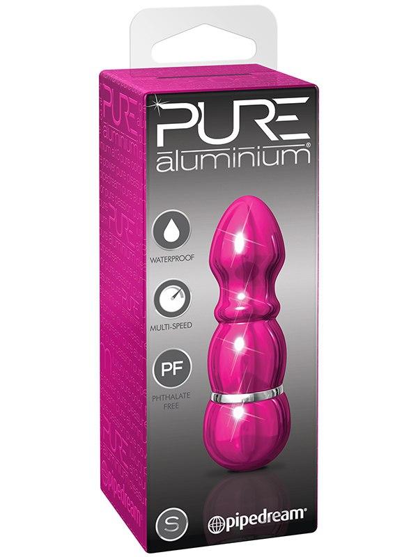 Вибромассажер Pure Aluminium Small Pink – розовый Pipedream