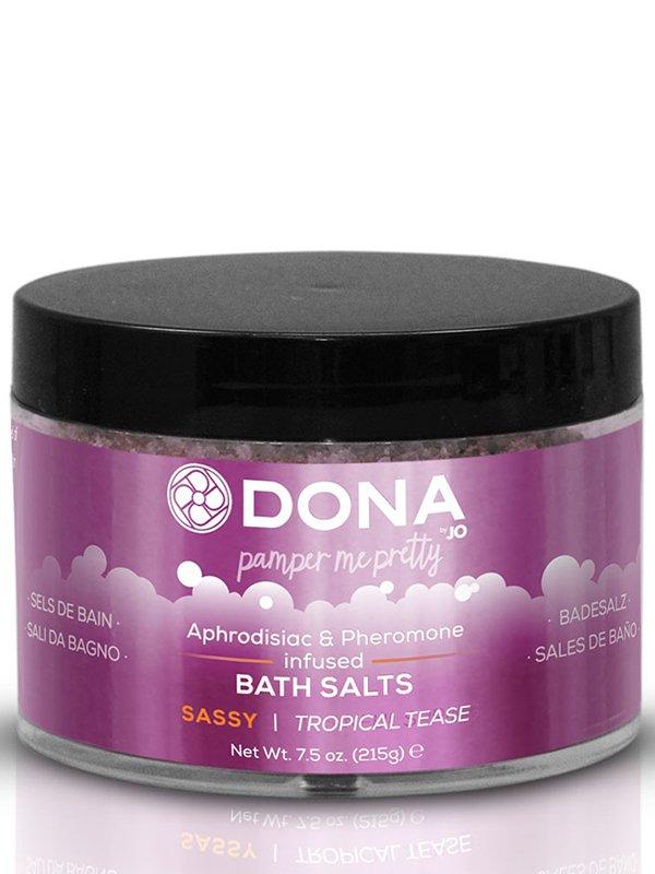 Цветная соль для ванны Dona Pamper Me Pretty Sassy с феромонами  тропический, 215 г