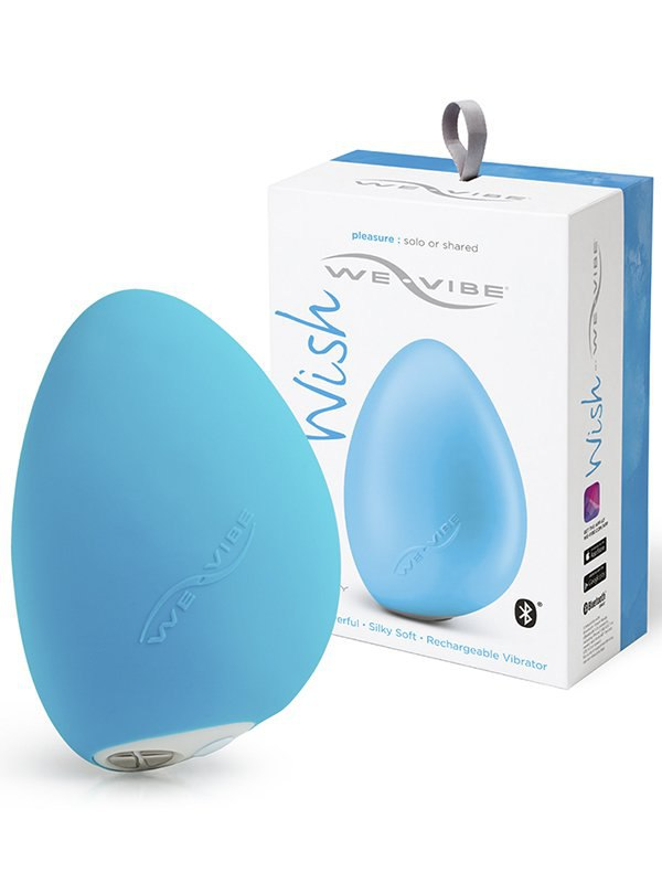 Вибромассажер для клитора на радиоуправлении We-Vibe Wish – голубой