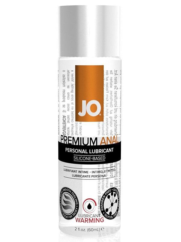 Согревающий анальный лубрикант на силиконовой основе JO Premium Warming - 60 мл