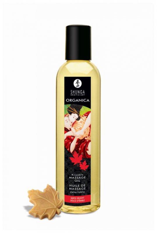 Съедобное массажное масло Shunga Organica «Кленовое наслаждение» - 250 мл масло интимное массажное shunga полночный щербет 100 мл