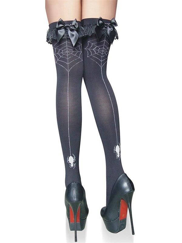 Чулки Ведьмочки с паутинкой (Temptlife) – черный