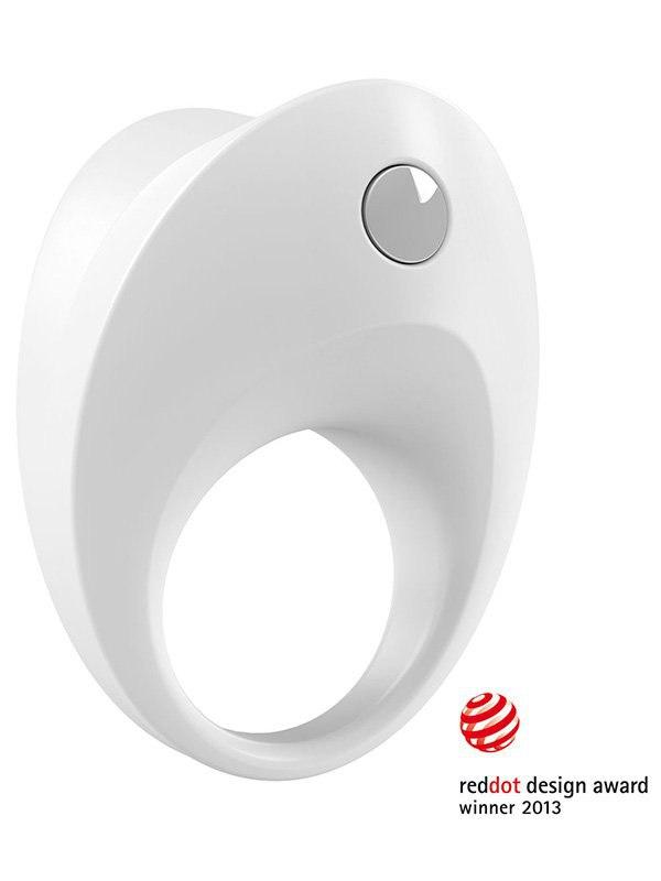 Эрекционное кольцо Ovo  B10 с вибрацией – белый