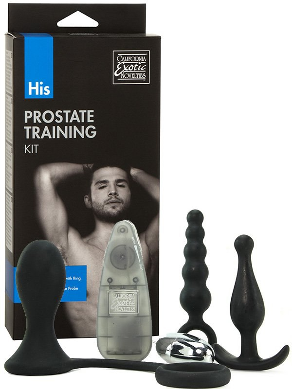 Анальный набор His Prostate Training Kit с вибропулей – черный