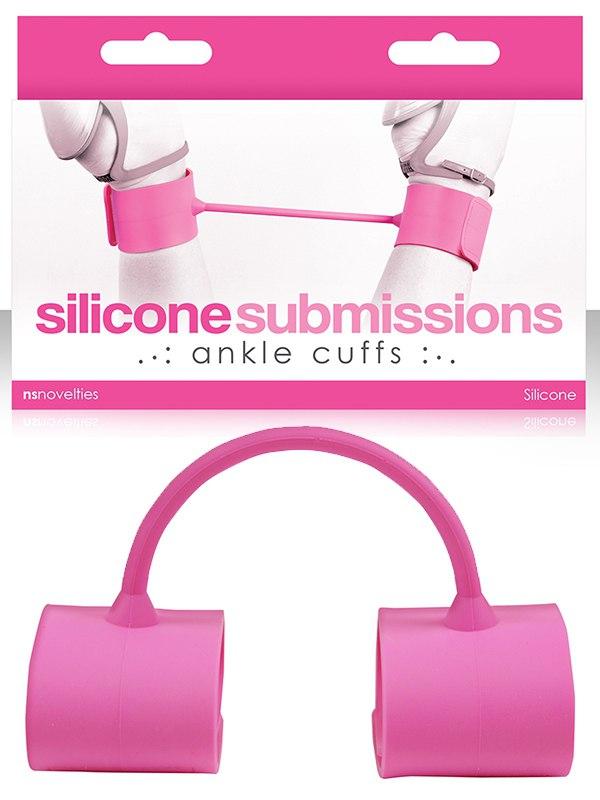 Наножники силиконовые Silicone Submissions Ankle Cuffs  розовые