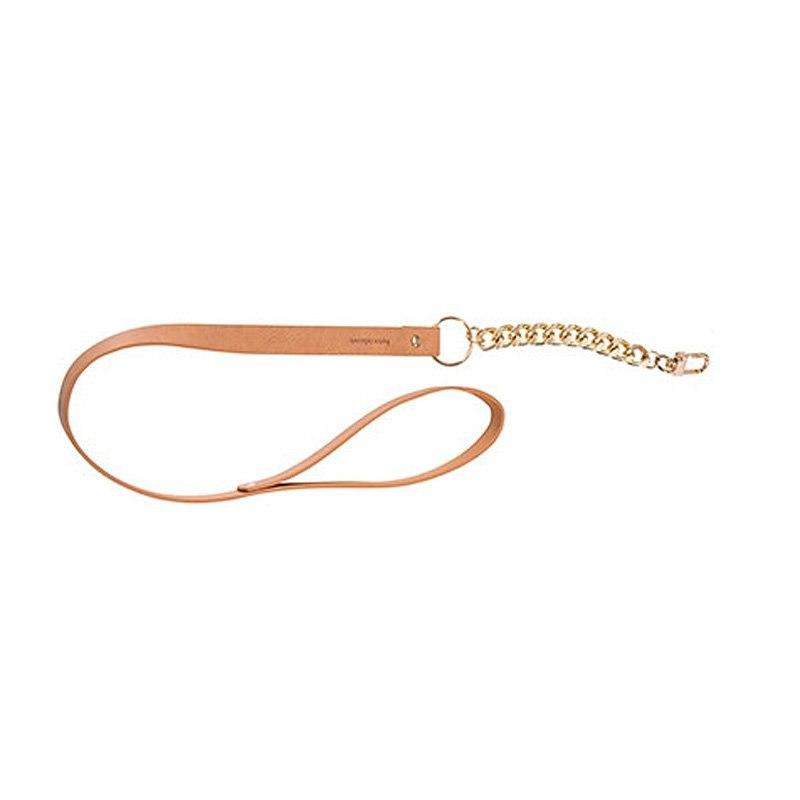 Поводок с цепочкой Maze Leash – коричневый