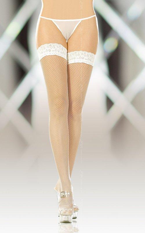 Белые чулки Softland 5517 в сетку – 2 размер от Он и Она