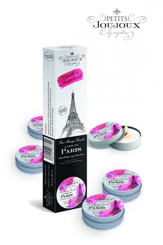 Набор из 5 массажных свечей Petits JouJoux Paris Refill Ваниль и Сандал - x 43 мл
