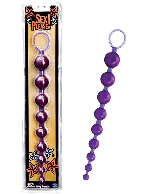Анальная цепочка TLC Sex Please! Sexy Beads – фиолетовая