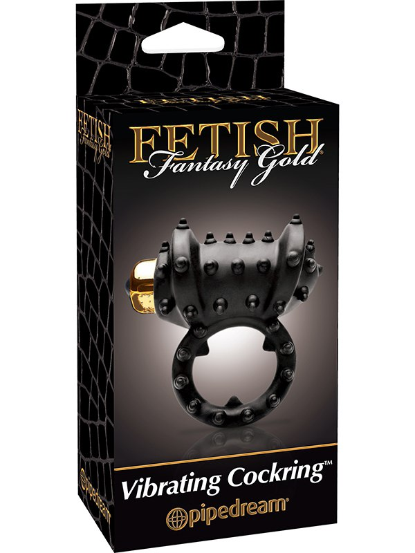 ����������� ������ Gold Vibrating Cockring � ��������� ������ � ������� (Pipedream, ���)