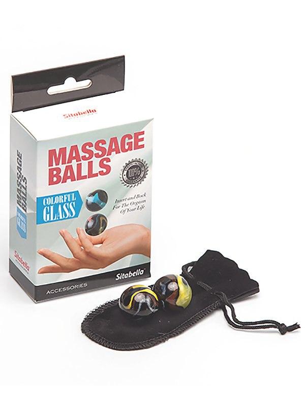 Вагинальные шарики Sitabella Massage Balls Colorfil Glass из цветного стекла