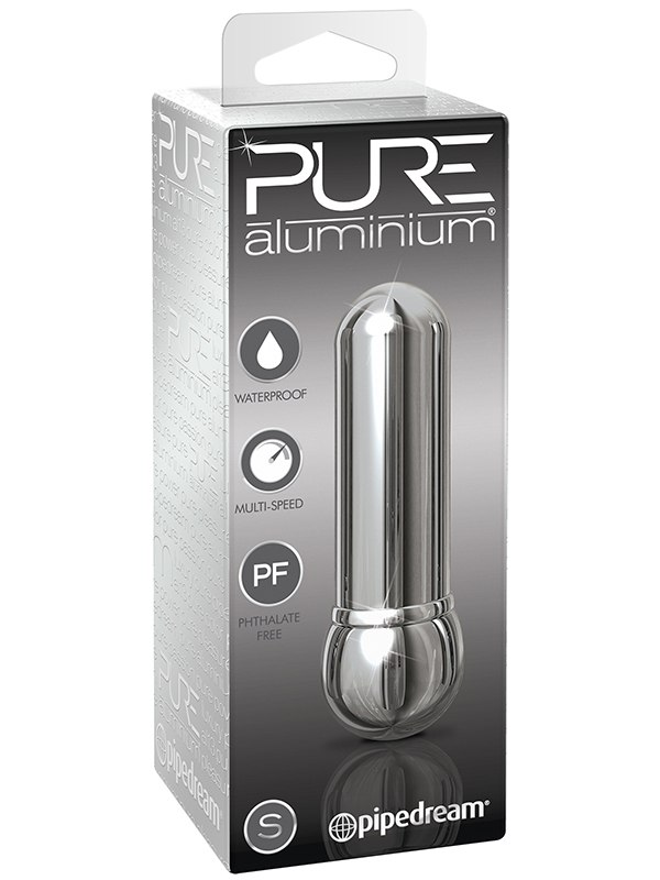 Вибромассажер Pure Aluminium Small Silver  серебристый (Pipedream, США)