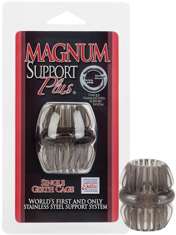Насадка стимулирующая Magnum Support Plus Single Girth Cage  черный