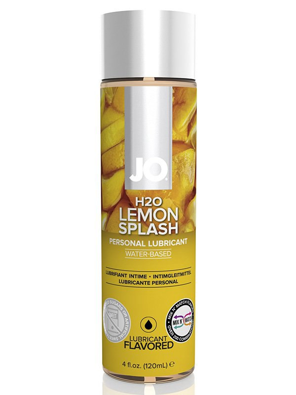 Съедобный лубрикант с ароматом лимона JO Flavored Lemon Splash - 120 мл