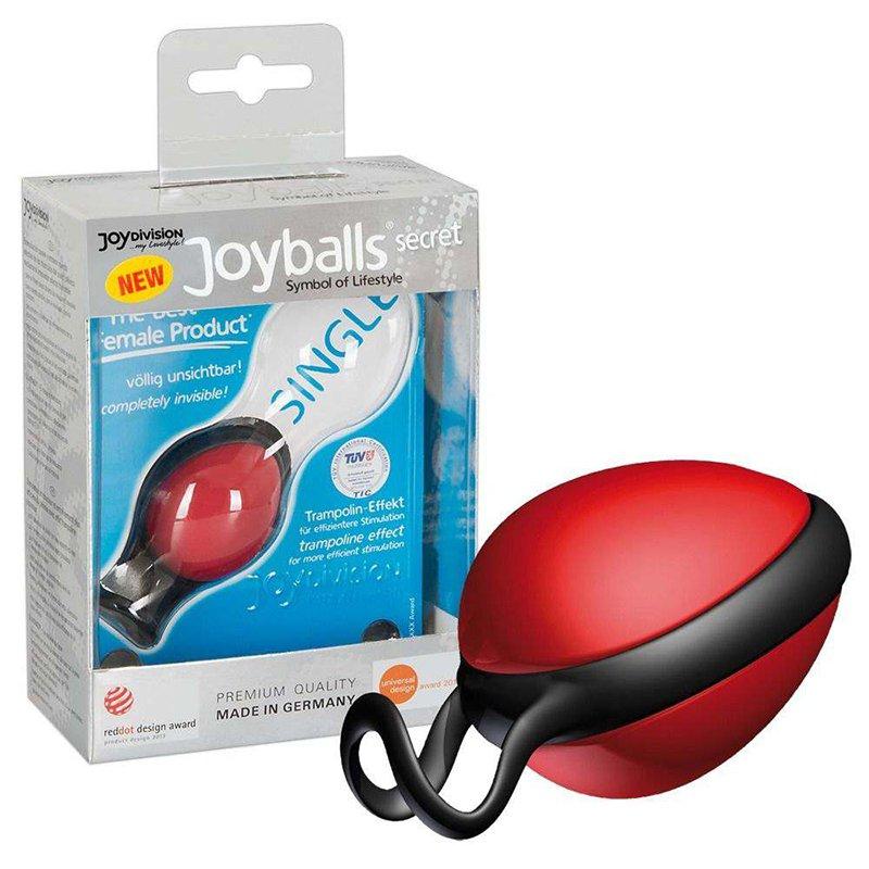 Вагинальный шарик Joyballs Secret со смещенным центром тяжести – красный вагинальный шарик joyballs trend со смещенным центром тяжести – фиолетовый