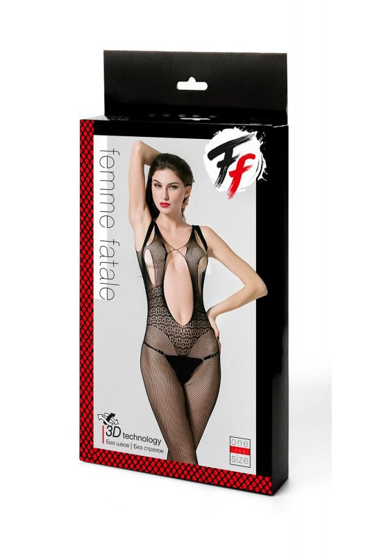 Открытый ажурный кетсьюит - сетка с доступом к попке Femme Fatale