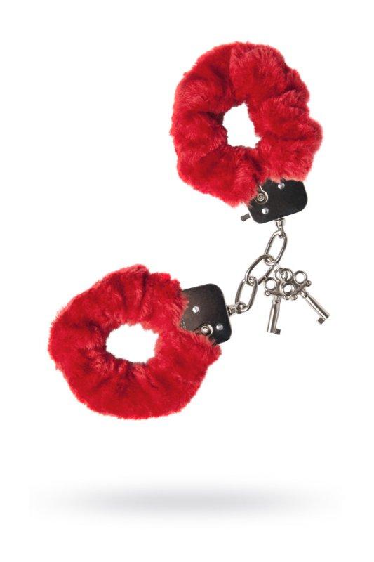 Фото - Металлические наручники с мехом TOYFA - красный красные наручники с мехом bdsm light