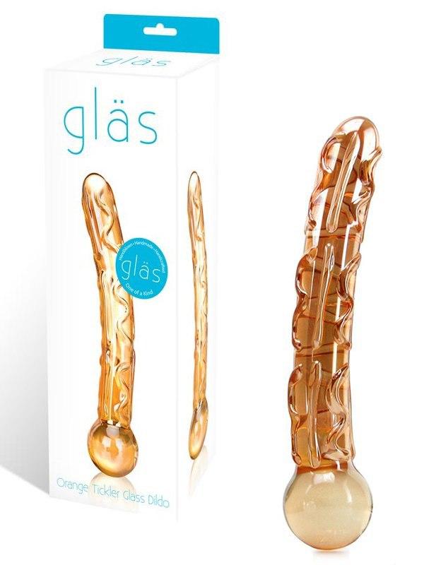 Стимулятор универсальный Glass Tickler из стекла – оранжевый