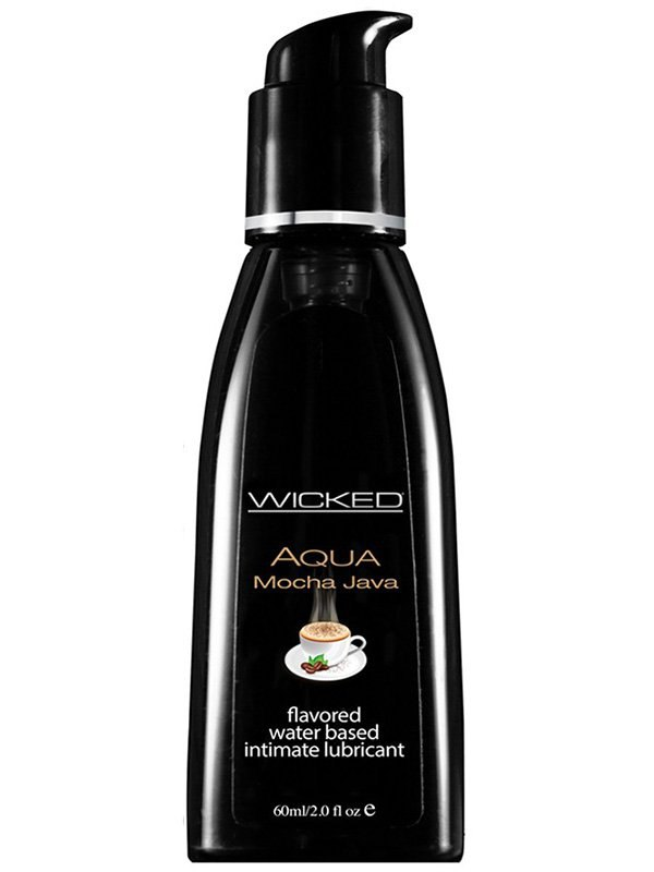 Лубрикант Wicked Aqua Mocha Java со вкусом кофе мокка  60 мл