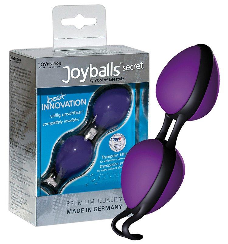 Вагинальные шарики Joyballs Secret со смещенным центром тяжести – фиолетовый