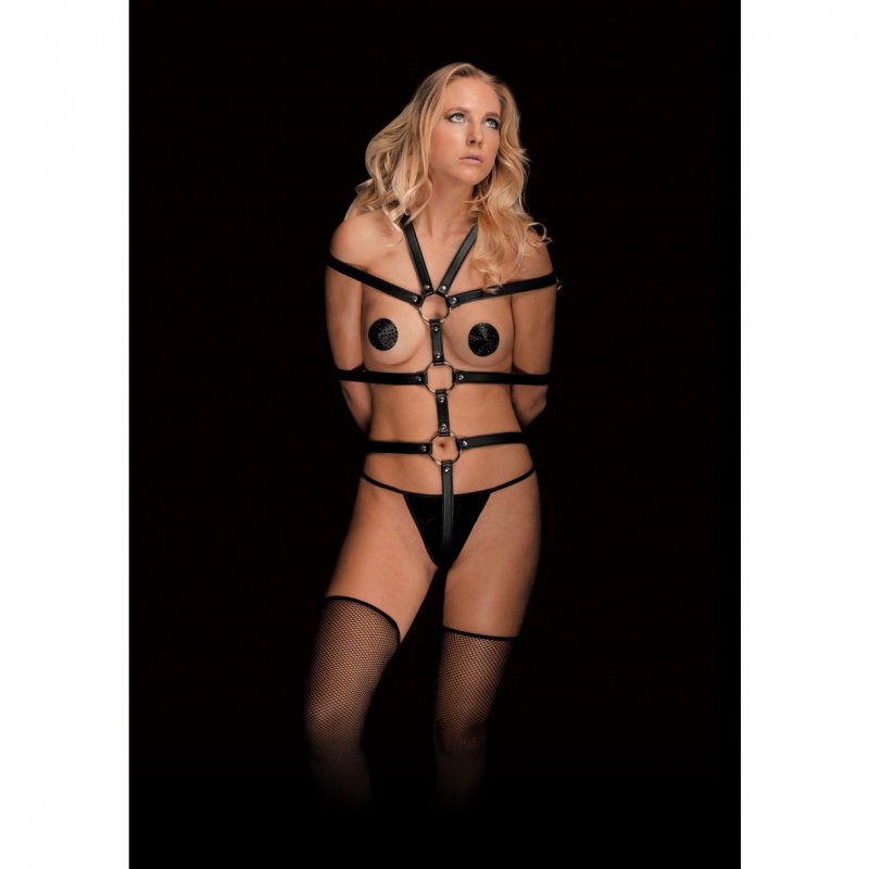 Бондаж для свяязвания из пвх Harness - Calida Black