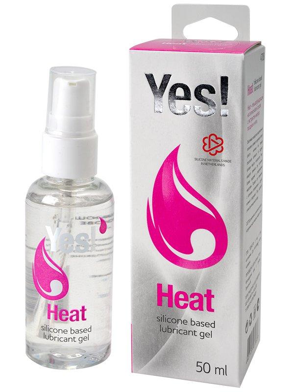 Гель-смазка силиконовый Yes - Heat возбуждающий  50 мл