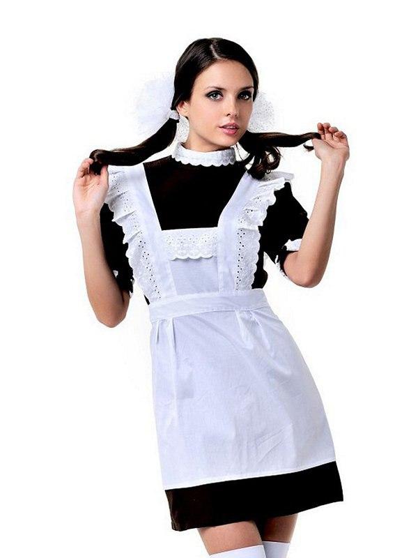 Игровой костюм Le Frivole Школьная форма CCCР  коричневый с белым, S/M