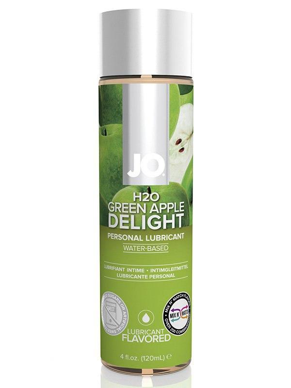 Съедобный лубрикант с ароматом зеленого яблока JO Flavored Green Apple – 120 мл