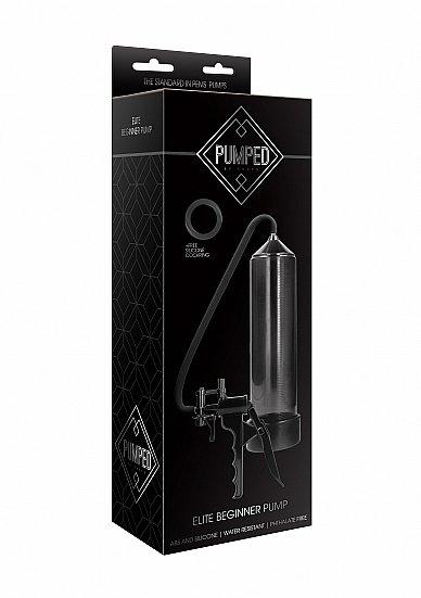 Помпа на пенис из пластика Elite Beginner Pump - Black