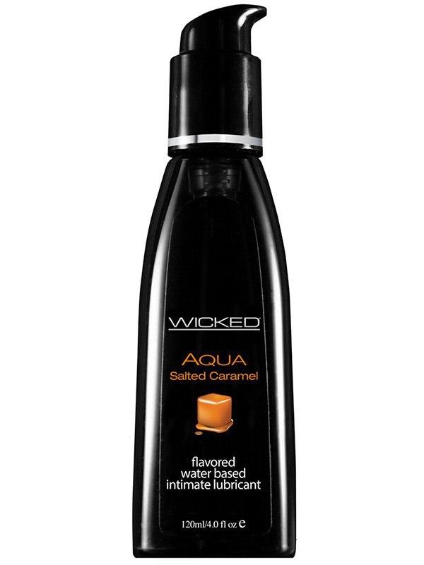 Лубрикант Wicked Aqua Salted Caramel со вкусом соленой карамели – 120 мл