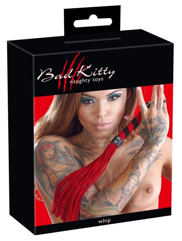 Плеть из велюровой кожи Bad Kitty Peitsche - красный
