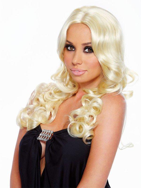 Парик с кудрями цвета платиновый блонд Blonde Elite