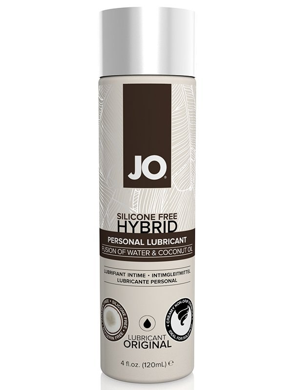 Гибридный лубрикант JO Silicone-Free Hybrid Original с маслом кокоса – 120 мл