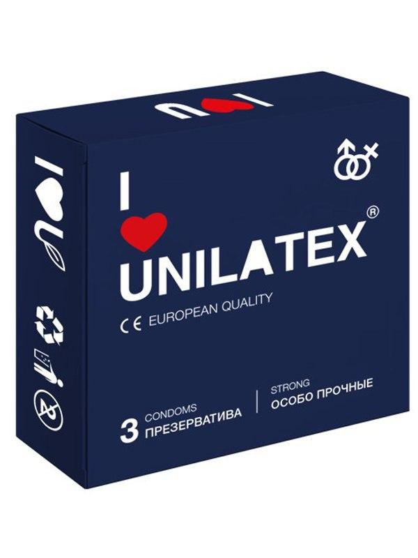 Сверхпрочные презервативы Unilatex Extra Strong - 3 шт