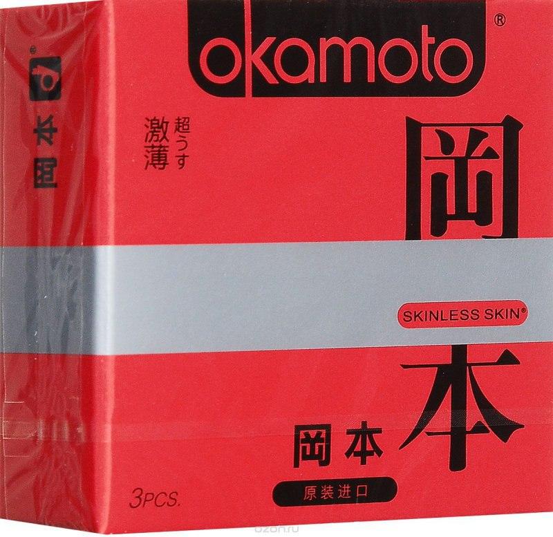 Презервативы Okamoto Skinless Skin Super Thin ультратонкие - 3 шт.
