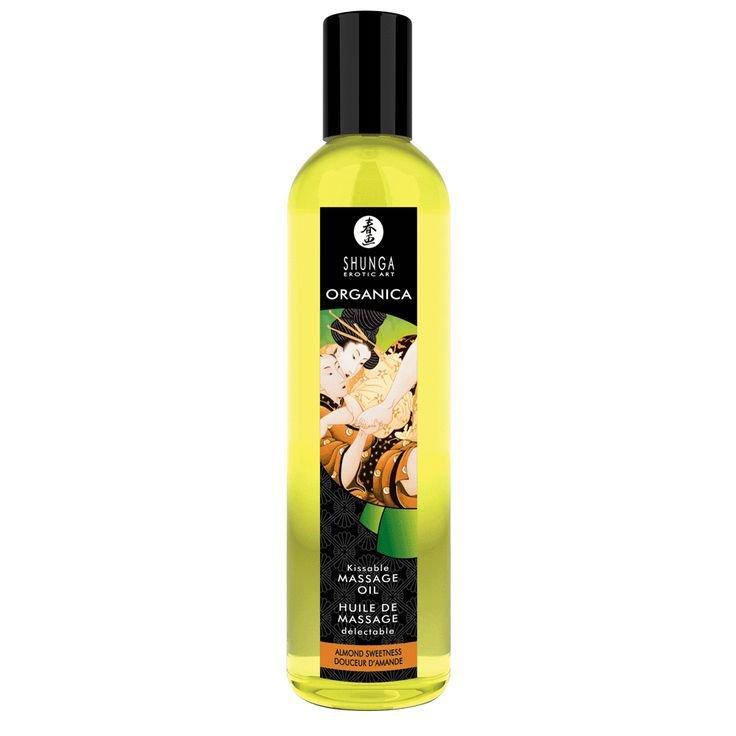 Съедобное массажное масло Shunga Organica «Миндальная сладость» - 250 мл фото