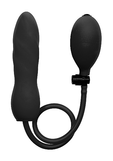 Фаллоимитатор с грушей Inflatable Silicone Twist
