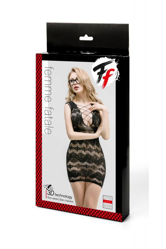 Кружевное платье с корсетной шнуровкой Femme Fatale