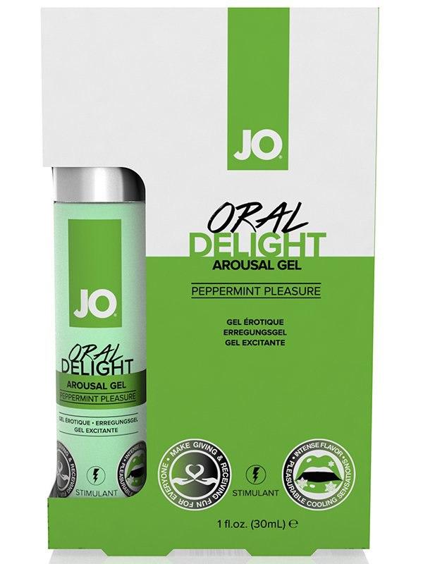 Лубрикант для оральных ласк JO Oral Delight Peppermint Pleasure мятный – 30 мл