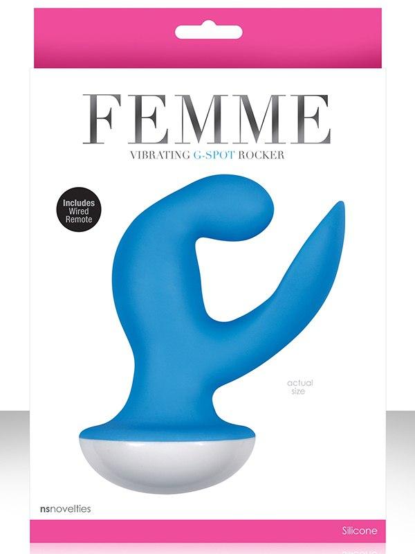 Вибромассажер Femme Vibrating G Spot Rocker – голубой от Он и Она