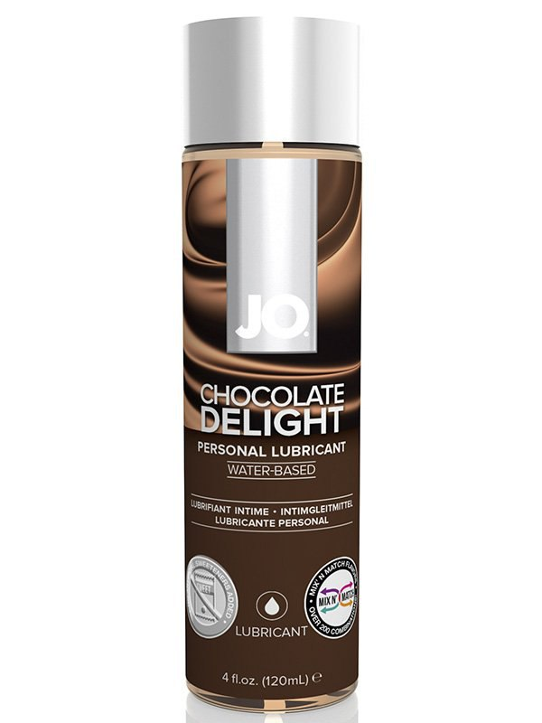 цена на Съедобный лубрикант с ароматом шоколада JO Flavored Chocolate Delight - 120 мл