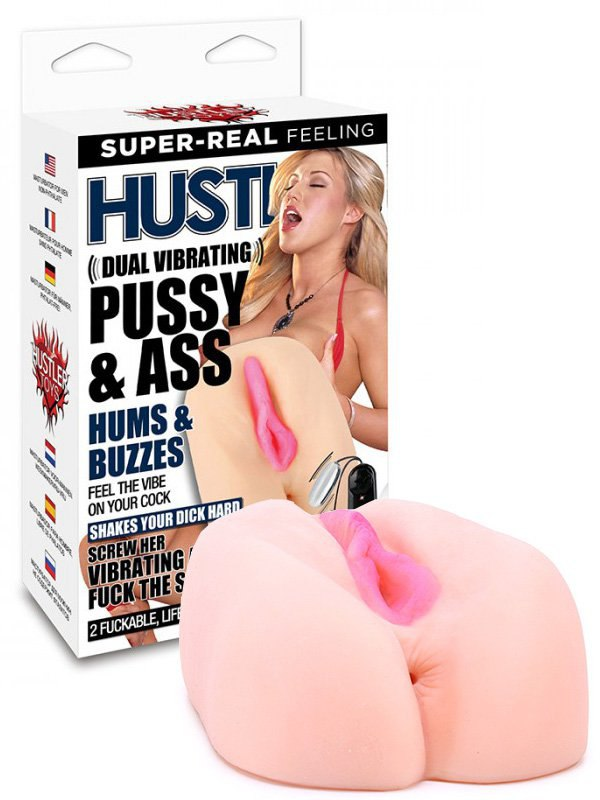 Мастурбатор вагина и анус Hustler от Memphis Monroe с вибрацией  телесный
