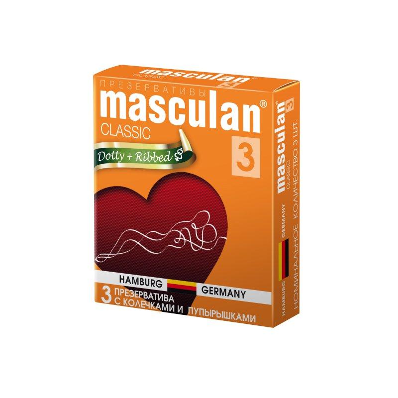 Презервативы Masculan 3 Classic с колечками и пупырышками 3 шт